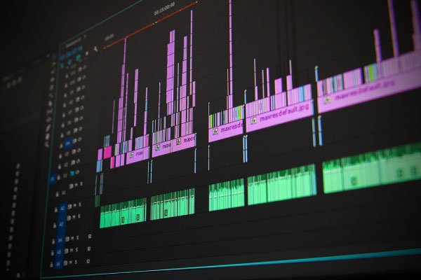 a video production company editing a clients video